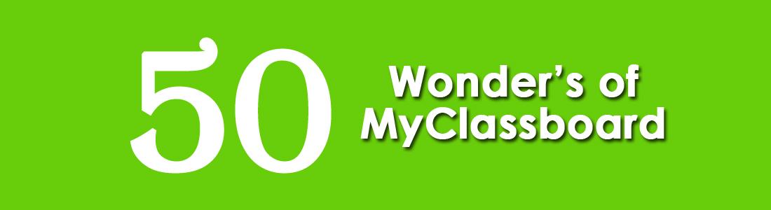 50 Wonders of MyClassboard School Management Software