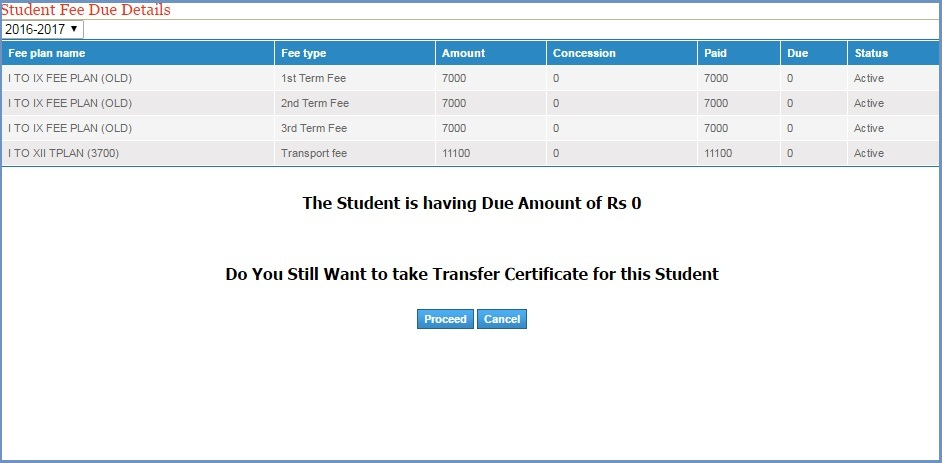 Generate Transfer Certificates for your School